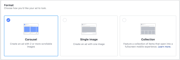 select ad unit for facebook dynamic remarketing